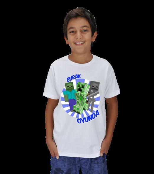 Burak Oyunda Minecraft Tasarım - Çocuk Çocuk Unisex Minecraft Serisinin Efsane Karakterleri Creeper, Zombie Ve Skeleton bir arada Burak Oyundada  131121171250882522479153-