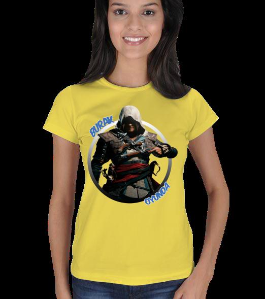 Assassins Creed 4 Tasarım  - Bayan Kadın Tişört Assassins Creed 4 Tasarım 131121180544882522473009-